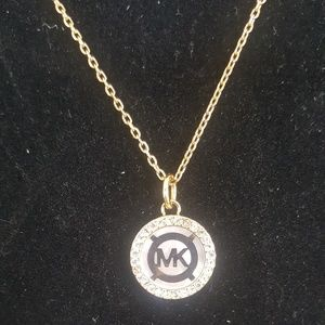 Michael Kors Monogram Mother of Pearl Necklace NWT